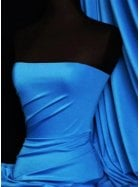 Shiny Lycra 4 Way Stretch Material- Azure Blue Q54 AZBL