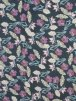 Aubergine/Black Floral Stretch Soft Touch Lycra Fabric