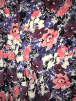 Smooth Touch Woven Blouse/Dress Fabric- Purple/Pink Florals SMT37 PPLPN
