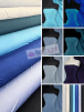 Silk Touch 4 Way Stretch Lycra Fabric Wholesale Roll- Blue Shades JBL333