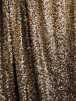 Showtime Sequins Dress/Dance Net Fabric- Golden Goddess SEQ77 BKGD