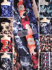 25 METRES Printed Scuba Stretch Poly Lycra Fabric Wholesale Roll- JBL338
