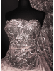 Embroidered Wisteria Scalloped (Both Ends) Sheer Lace Net SQ413
