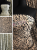 Bubble Crepe Woven Blouse/ Dress Fabric- Leopard Print SQ434