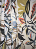 Linen Medium Weight Printed Dress Fabric Material- Blooming Branches SQ436 IVMLT