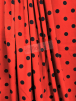 100% Viscose Light Weight Woven Material- Red/Black Polka Dots VSC250 RDBK