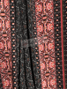 Bubble Crepe Woven Blouse/ Dress Fabric- Floral Utopia Black/Red SQ440 BKRD