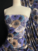 Chiffon Soft Touch Sheer Fabric- Purple Posies CHF263 PPL