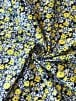 Cotton Lycra Jersey 4 Way Stretch Fabric Wholesale Roll- Yellow Florals JBL461
