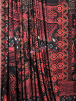 Poly Viscose Light Weight Stretch Sheer Fabric- Paisley Palace Black/Red VSCP22 BKRD