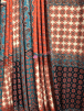 Poly Viscose Light Weight Stretch Sheer Fabric- Moroccan Paisley Teal/Orange VSCP25 TLOR
