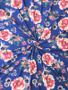 Scuba Crepe Stretch Jersey Dressmaking Fabric- Royal Blooms SQ501 RBLMLT