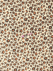 Polar Fleece Anti Pill Washable Soft Fabric- Cheetah Beige/Camel SQ500 BGCML