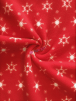 Polar Fleece Anti Pill Washable Soft Fabric- Christmas Red Snowflakes SQ521 RDWHT
