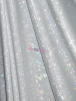 7 PIECES Clearance Hologram Rainbow Foil Stretch Spandex Fabric Job Lot Bundle- Galaxy Disco White HMLYC64 WHTSLV
