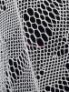 Fishnet/Net 4 Way Stretch Fabric Material- White Q337 WHT