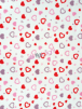 Polar Fleece Anti Pill Washable Soft Fabric- Sweet Hearts SQ537 WHTRD