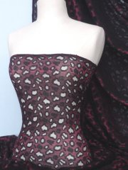 Lace Stretch Fabric Material- Wine/Black WNBK SL