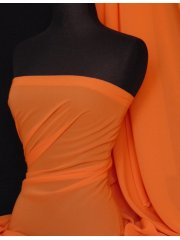 Soft Touch (112 cms) Sheer Chiffon Fabric- Bright Orange SQ30 BTOR