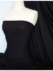 Heavy Viscose Cotton Stretch Lycra Fabric- Black Q896 BK