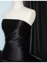 Satin Medium Weight Fabric- Black Q243 BK