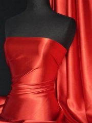 Satin Medium Weight Fabric- Red Q243 RD