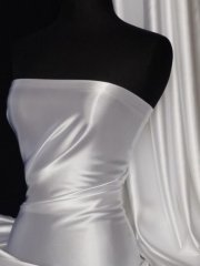 Satin Medium Weight Fabric- White Q243 WHT