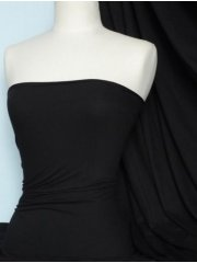 Cotton Lycra Jersey 4 Way Stretch Fabric - Black Q35 BK