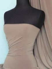 Soft Touch 4 Way Stretch Lycra Fabric- Mocha Q36 MCH