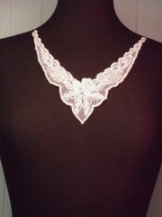 Beaded Sequin Neck Piece- Light Pink EM132 LTPN