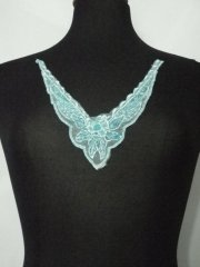 Beaded Sequin Neck Piece- Turquoise Blue EM132 TQBL