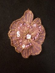 Sequin Flower Embellishment- Lilac EM141 LLC