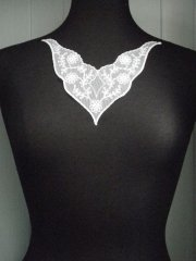 French Lace Neck Piece- Pure White EM182 WHT
