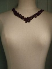Sequin Beaded Neck Piece- Chocolate Brown EM184 CHBR