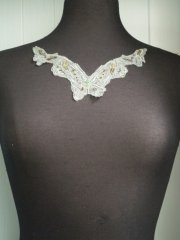 Sage Green Sequin Beaded Butterfly Neck Piece
