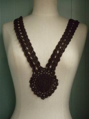 Dark Brown Crochet Neck Piece