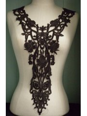 Flower Lace Neck Piece- Dark Mauve EM206 DKMV