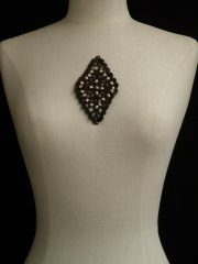 Cotton Crochet Embellishment- Dark Brown EM227 DBR
