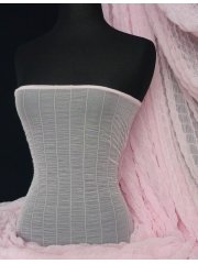 Shirring Power Mesh 4 Way Stretch Material- Baby Pink Q1266 BPN