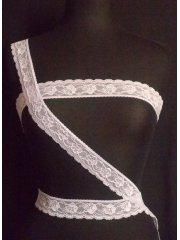 Lilac Floral Embroidered Lace Trim