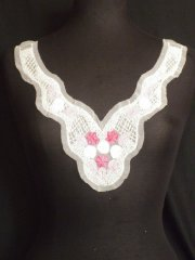 Pink/White Sequin Rose Net Neck Piece
