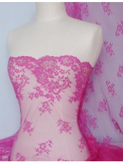 Non-Stretch Flounce Scalloped Rigid Lace- Cerise Q298 CRS