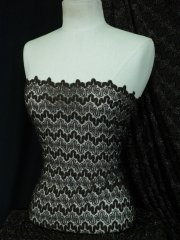 Crochet Knitted Silver Lurex Lace- Brown SQ20 BR