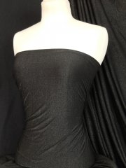 Gold Shimmer 4 Way Stretch Fabric - Black SQ51 BKGLD