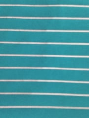 Micro Lycra Jersey 4 Way Stretch Fabric- Aqua Blue Horizontal Stripes SQ96 AQBL