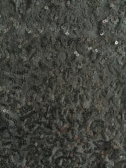 Soft Touch Sequins Stretch Fabric- Black Q1221 BK