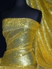 Showtime Fabric All Over Stitched 3mm Sequins - Golden Mustard SEQ53 GDMST