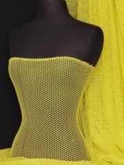 Fishnet (6mm) 4 Way Stretch Material- Bright Yellow Q319 BTYEL