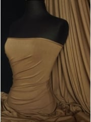 Heavy Viscose Cotton Stretch Lycra Fabric- Mocha Q896 MCH