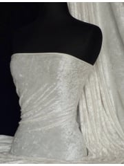 Crushed Velvet/Velour Stretch Material- Ivory Q156 IV
